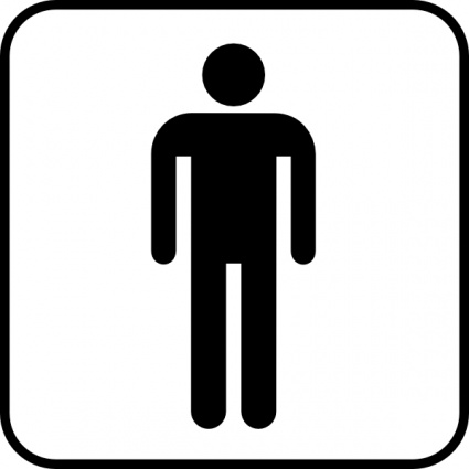 Free download of Mens Room clip art Vector Graphic.