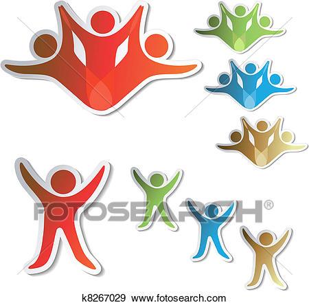 Vector human symbols Clip Art.
