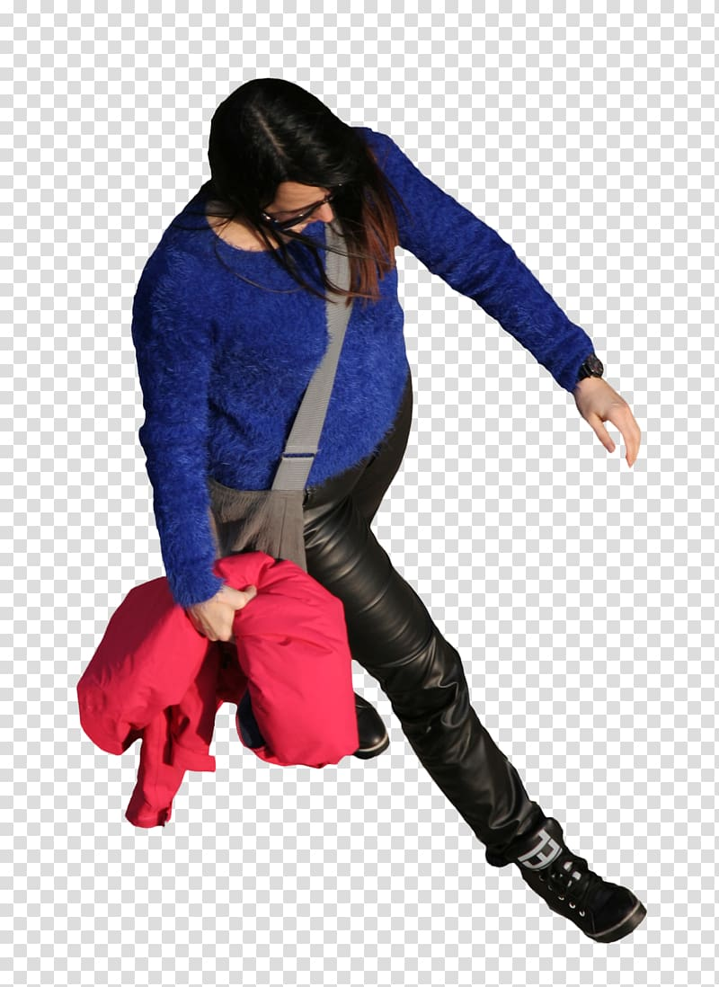 Woman Standard test , top view transparent background PNG.