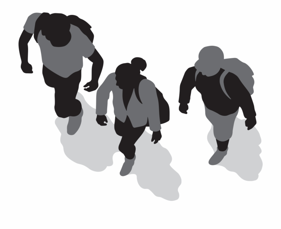 Three People Walking.
