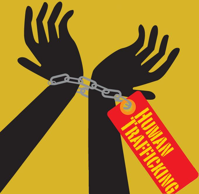 Human trafficking clipart.