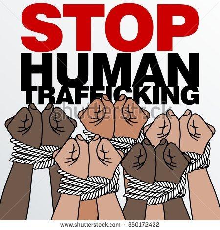 Stop Human Trafficking Logo Template Stock Vector 359051405.