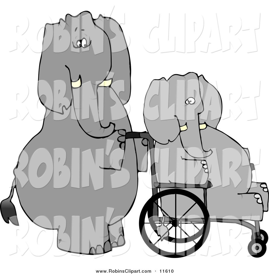 Clip Art of an Obese Gray Human.