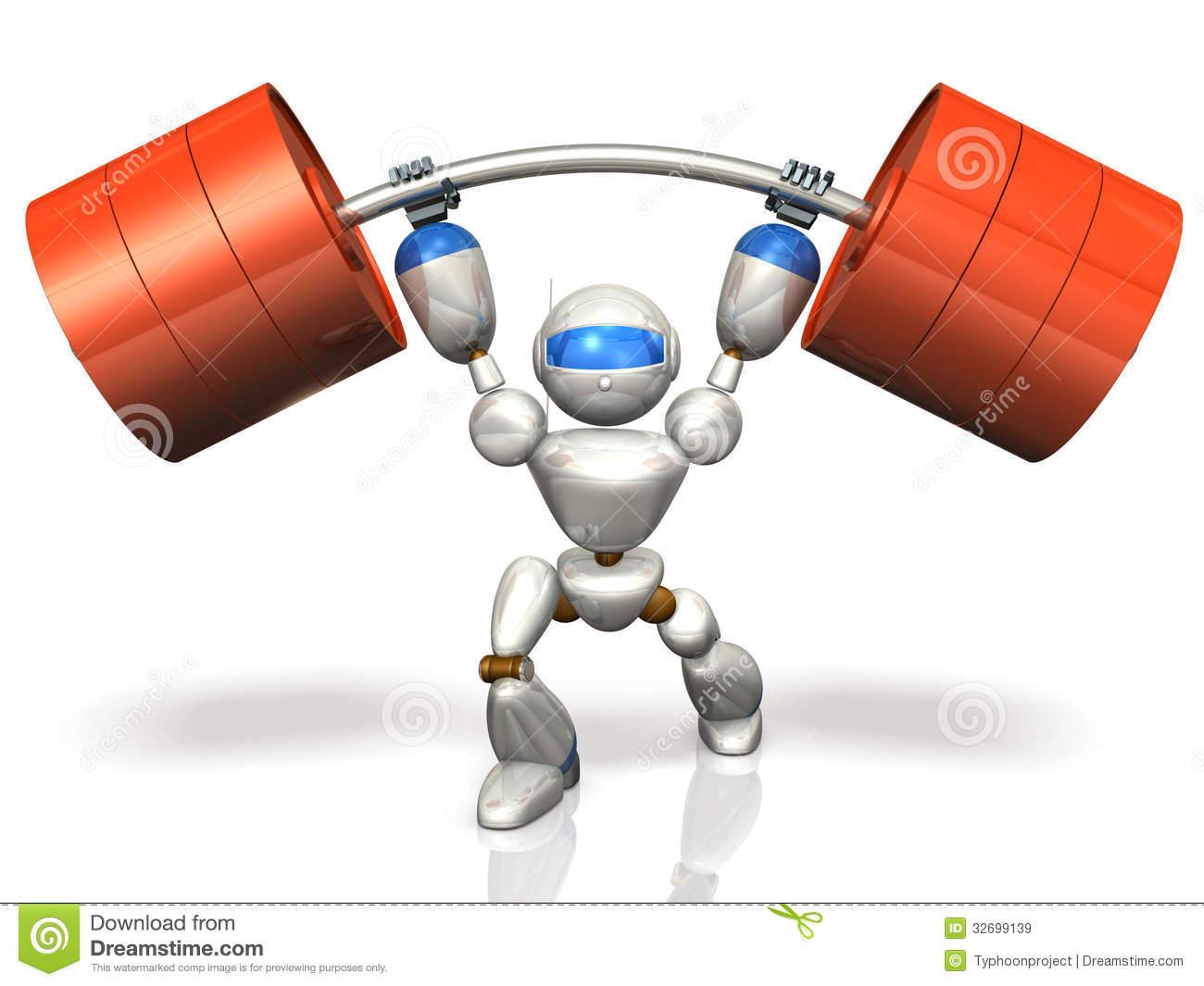 Humanoid Robot Is Possesses Superhuman Strength. Royalty Free.