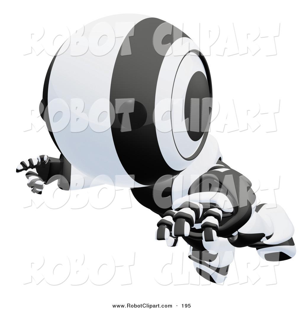 robotics clipart clipart of a clumsy black and white aomaru.