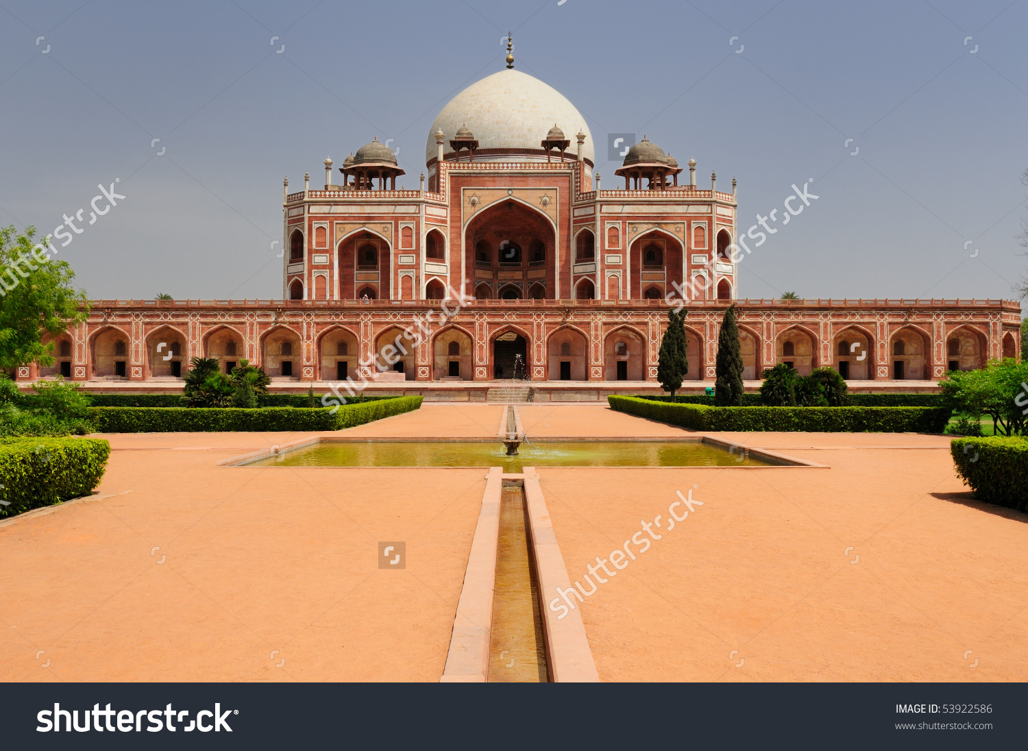 Humayuns Tomb Delhi Brilliant Example Early Stock Photo 53922586.