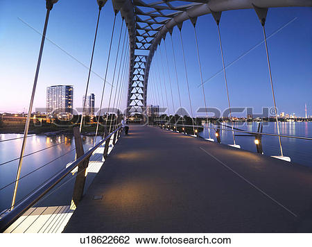 Stock Photo of The Humber River Arch Bridge in Toronto during.