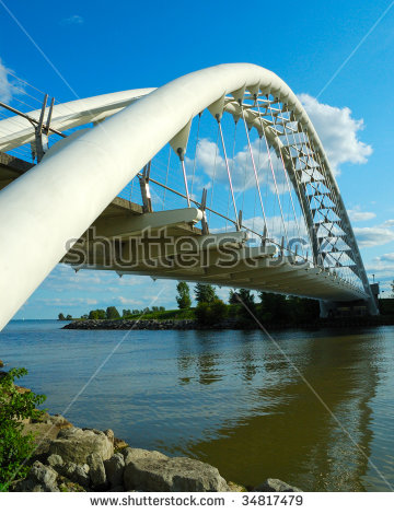 Suspension Bridge Humber Bay Park Toronto Stock Photo 45758365.