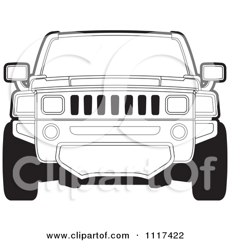 Clipart of a Silver Hummer Stretch Limo.
