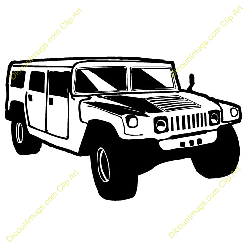 Gallery For > Hummer Clipart.