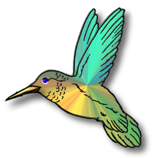 Humming bird clip art.