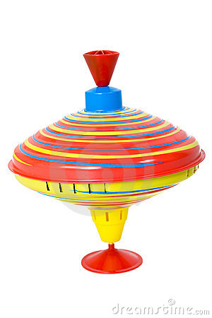 Humming Or Spinning Top In Motion Stock Photo.