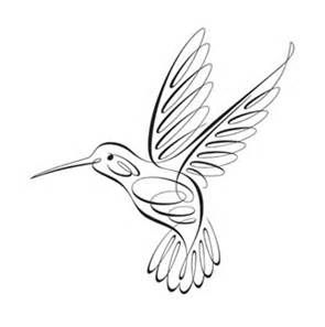 hummingbird clip art black and white.