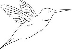Simple Hummingbird Outline Coloring Coloring Pages.