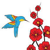Hummingbird Clip Art Illustrations. 1,499 hummingbird clipart EPS.