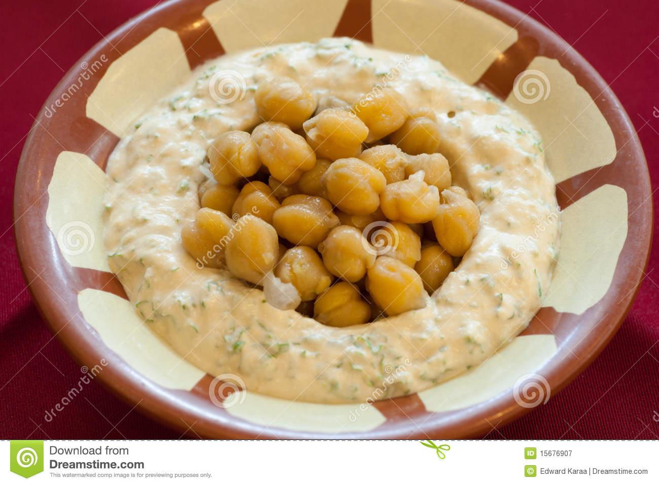 Hummus Beiruti Stock Photos.