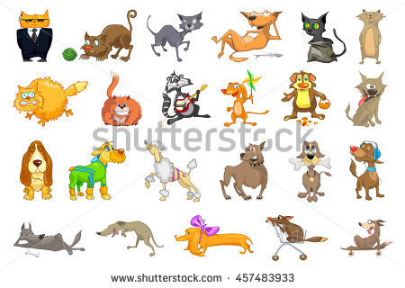 Funny Animals Stock Vector 25293886.