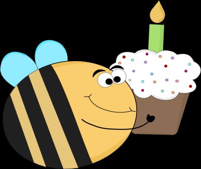 Funny Birthday Clipart Bee.