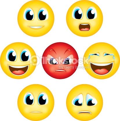 Emoji Emoticon Expression Faces Icons Humour Avatar Clipart Vector.