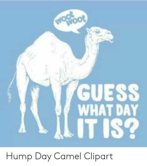 GUESS WHAT DAY IT IS? Hump Day Camel Clipart.