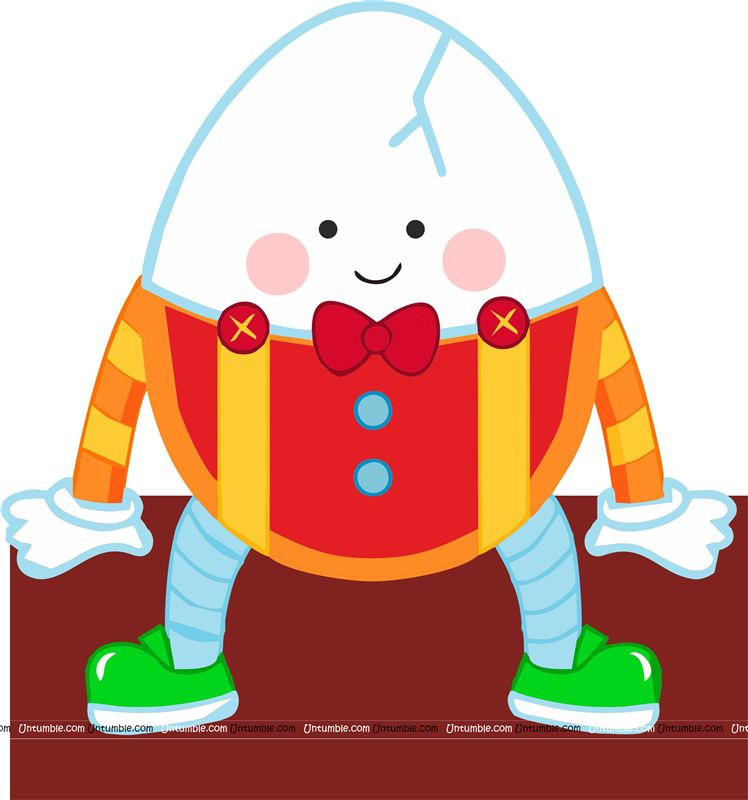Nursery Rhymes theme Humpty Dumpty Cutout.