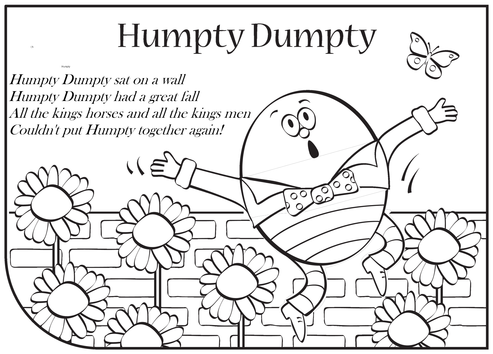 Free Humpty Dumpty Clipart Black And White, Download Free.