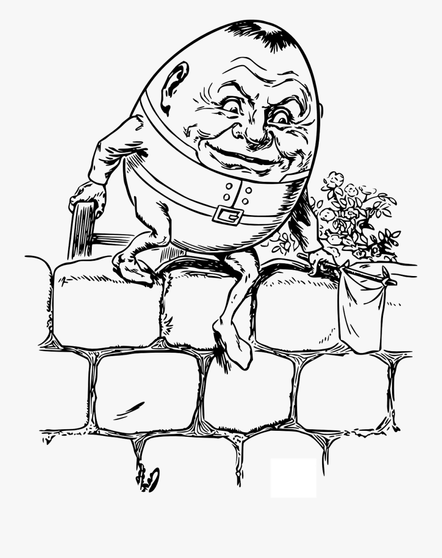 Humpty Dumpty Clipart Nursery Rhyme.