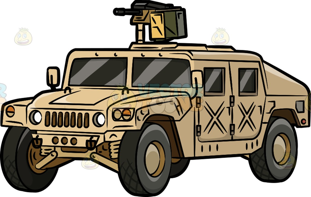A Military Humvee Cartoon Clipart.