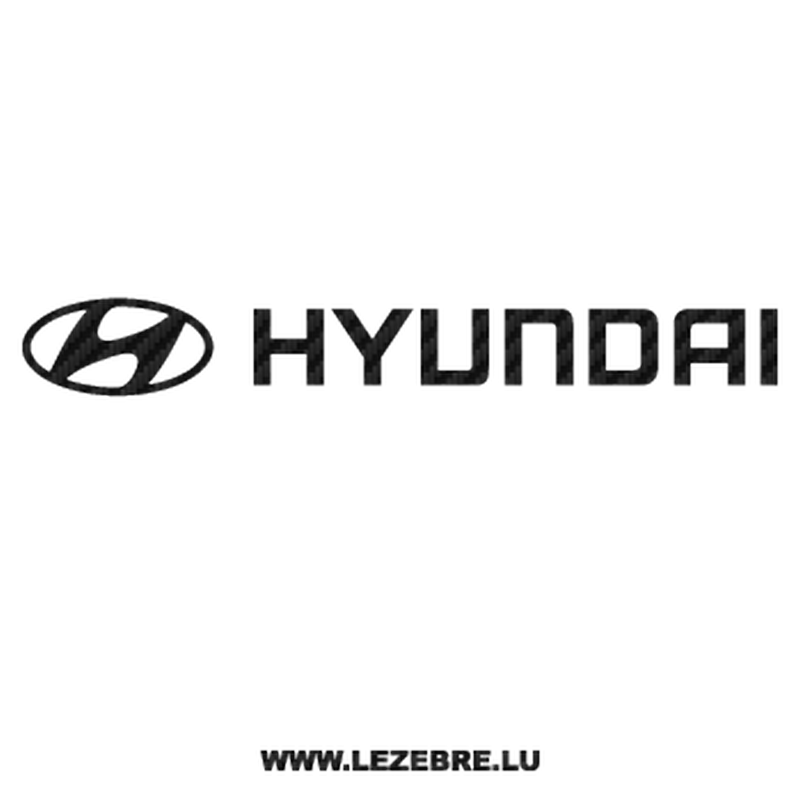 Hyundai Logo Carbon Decal.