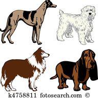 Hundeartig Clipart und Illustrationen. 13.827 hundeartig Clip Art.