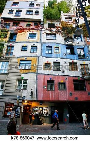 Picture of Hundertwasser House, Vienna, Austria k78.