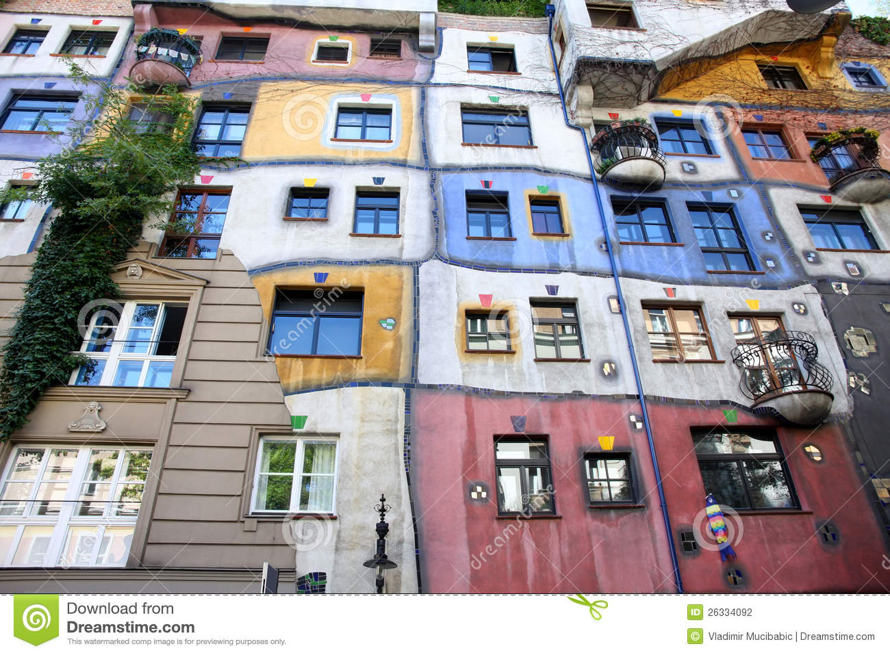 Hundertwasser House In Vienna Royalty Free Stock Photography.