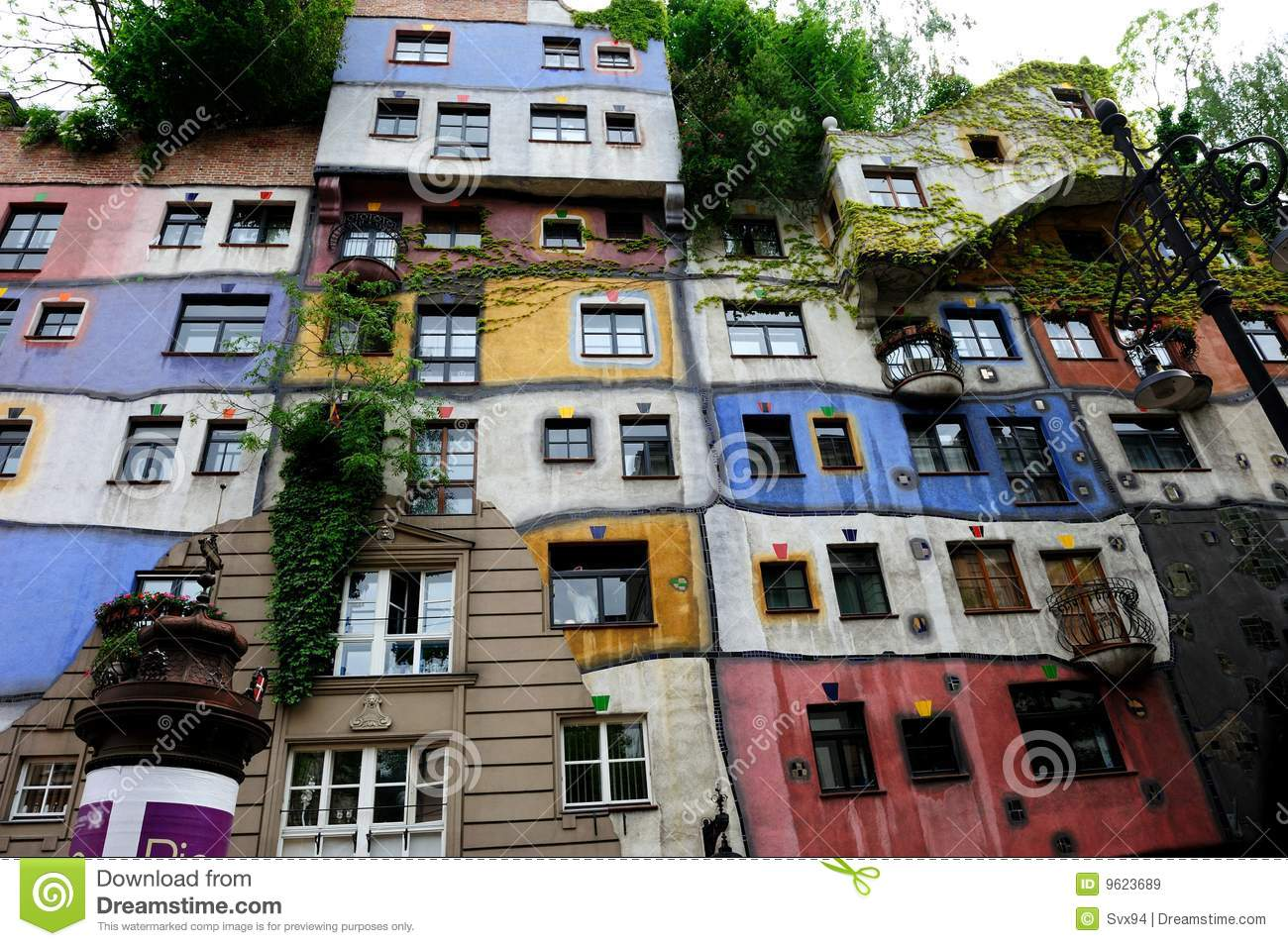 The Hundertwasser House Vienna Royalty Free Stock Images.