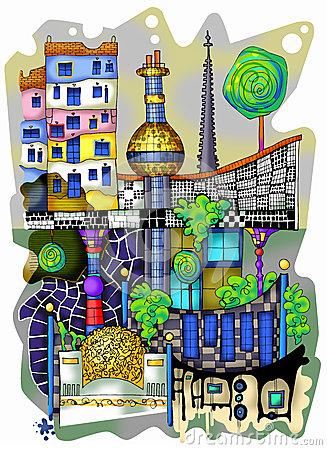 Hundertwasser Stock Illustrations.