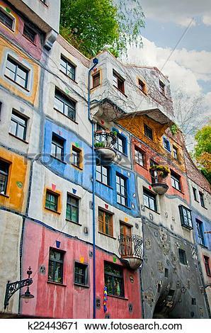 Stock Photography of Hundertwasser House k22443671.
