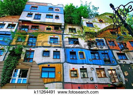 Stock Photography of Hundertwasser Haus in Vienna k11264491.