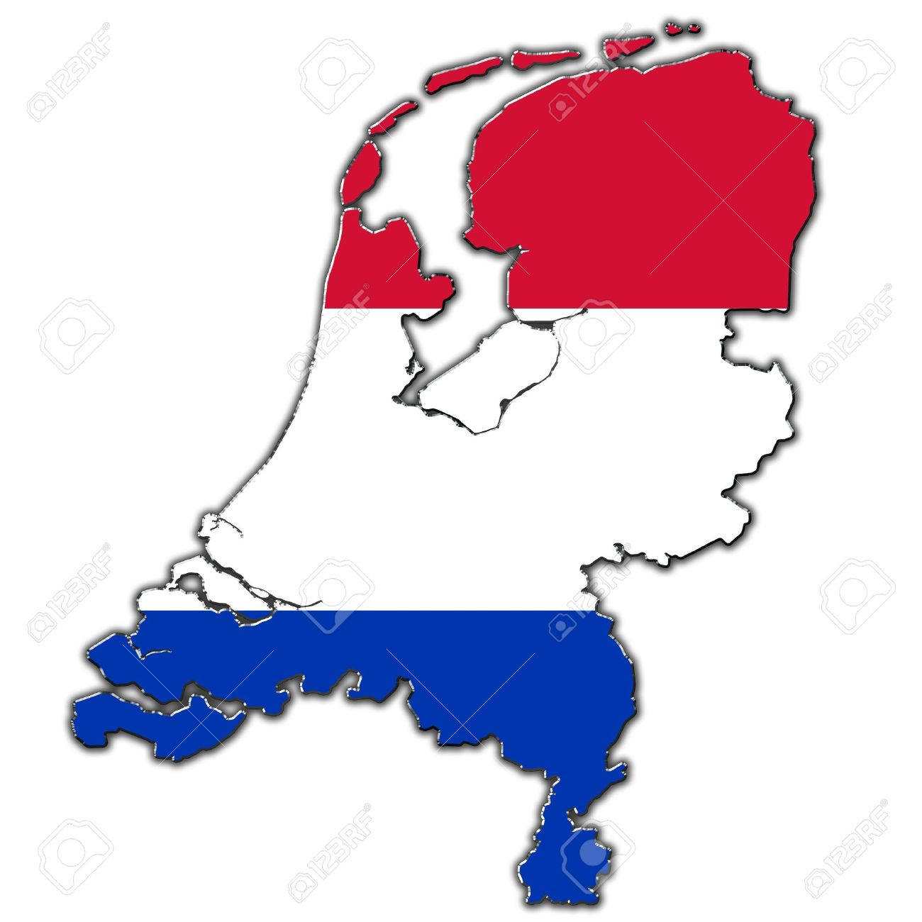 holland map flag.