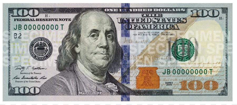 One Hundred Dollar Bill Png & Free One Hundred Dollar Bill.png.