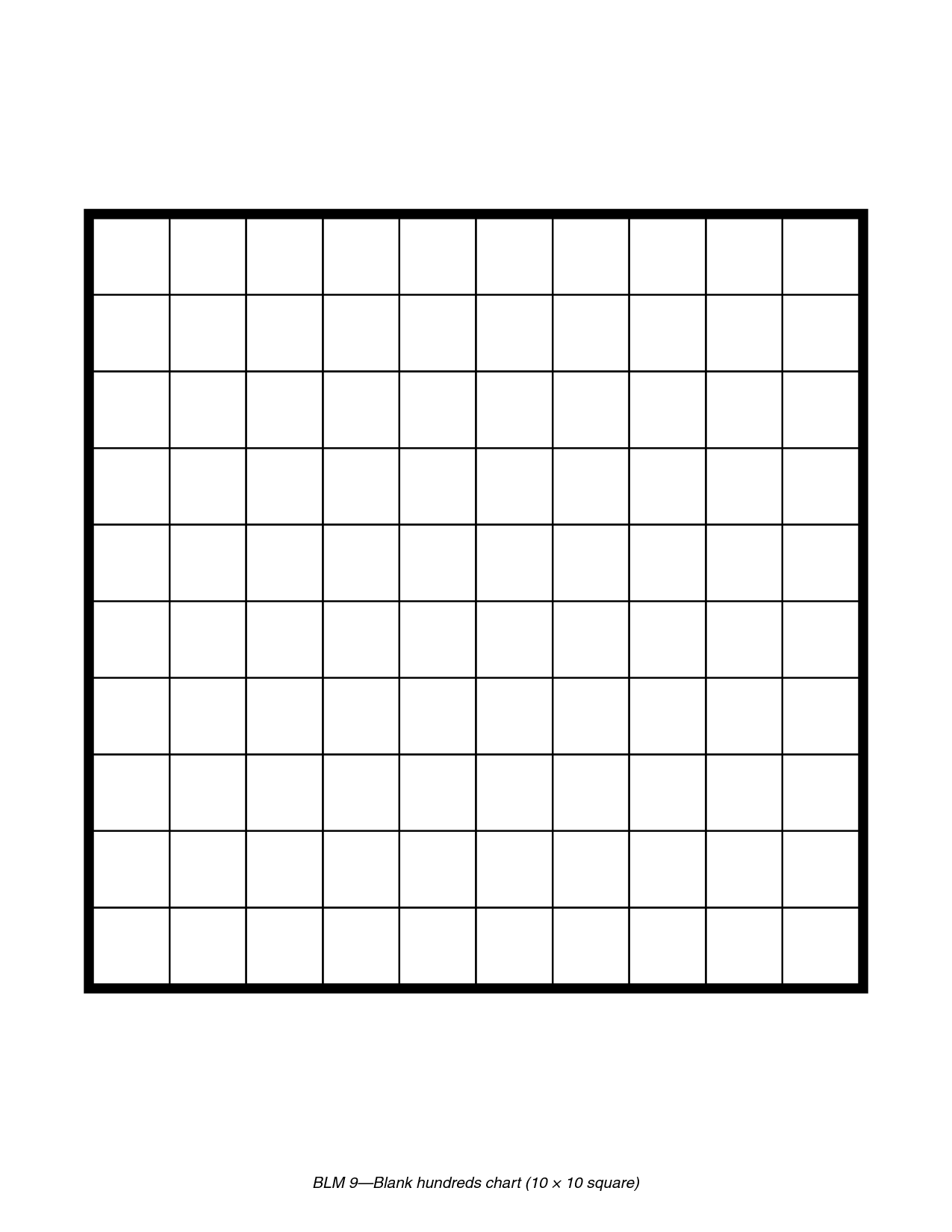 hundreds grid paper.