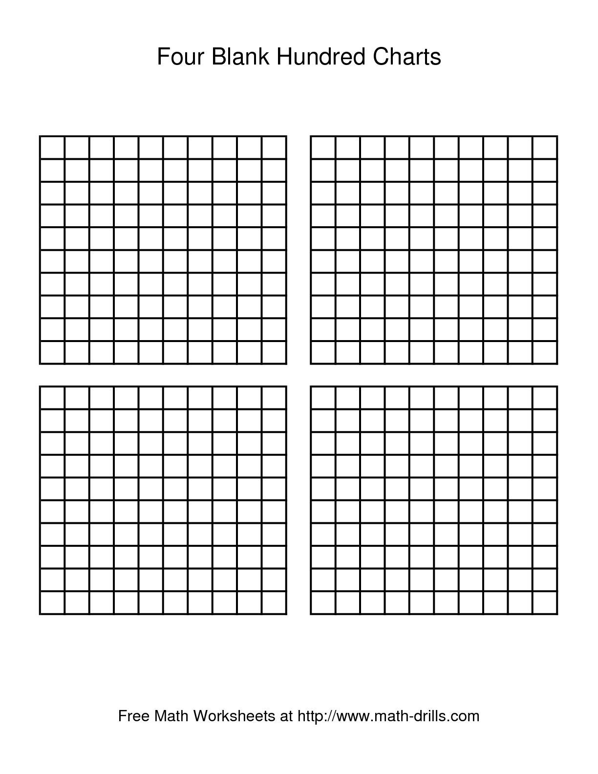 Hundredths grid clipart.