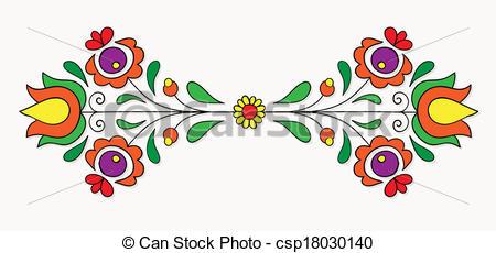 EPS Vector of Hungarian folk motif.