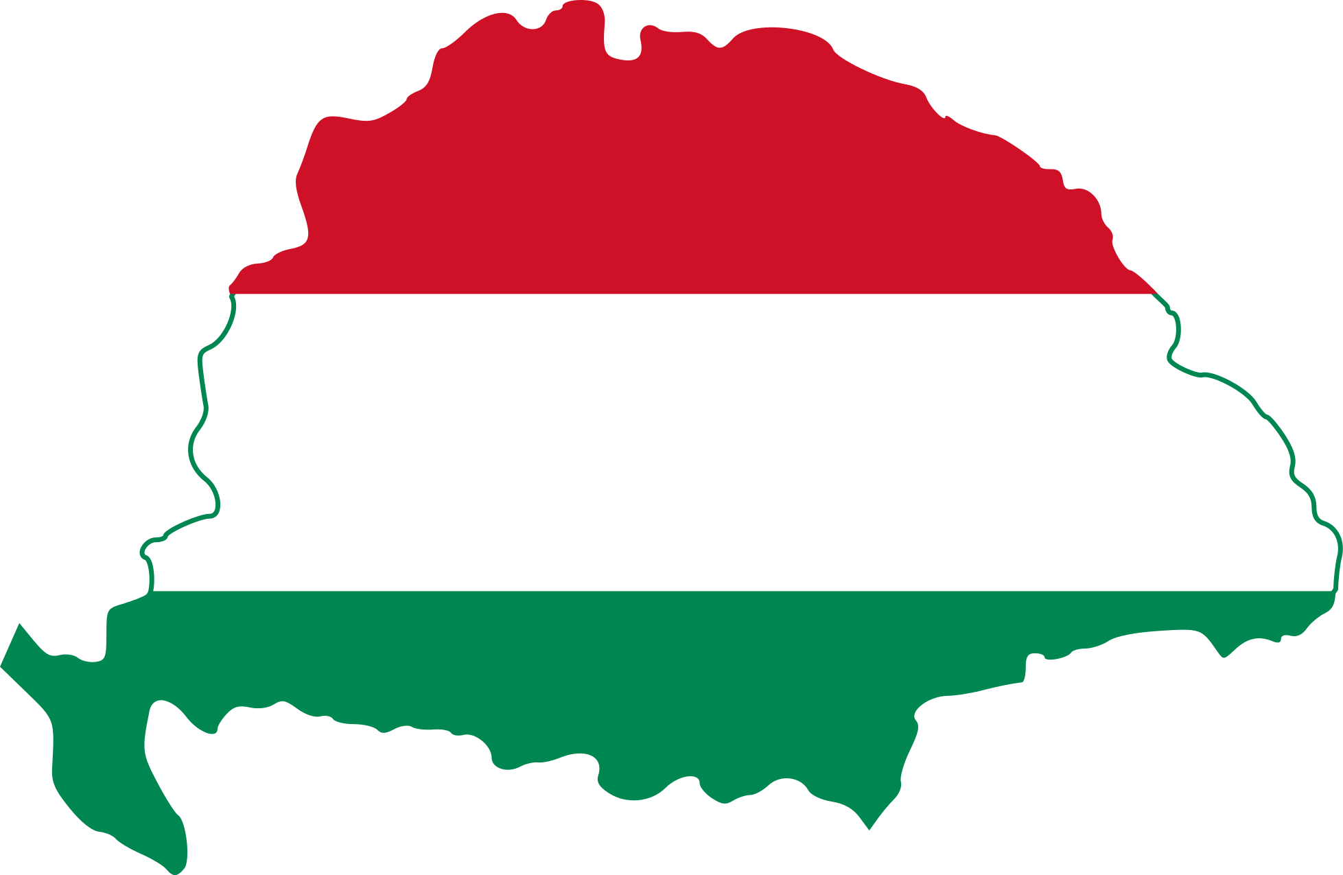 Hungarian flag clipart.