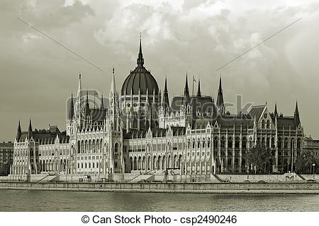 Stock Image of Hungaian Parlament.