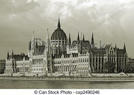 Stock Image of Hungaian Parlament.