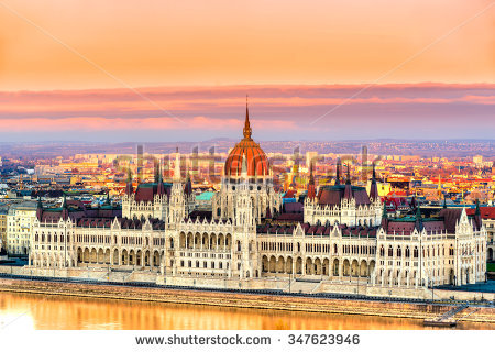 View Budapest Parliament Sunrise Hungary Stock Photo 342093995.