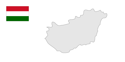 Hungary Map Clipart.