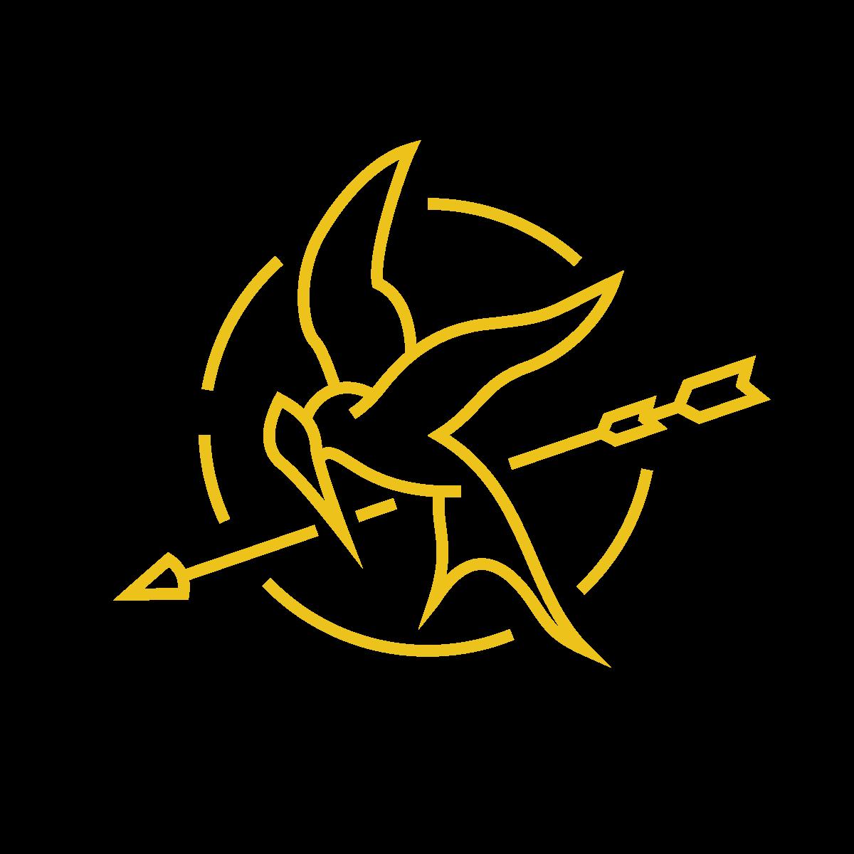 hunger games symbol.