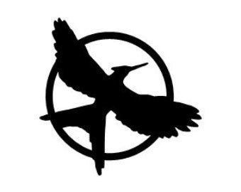 Mockingjay Symbol Black And.