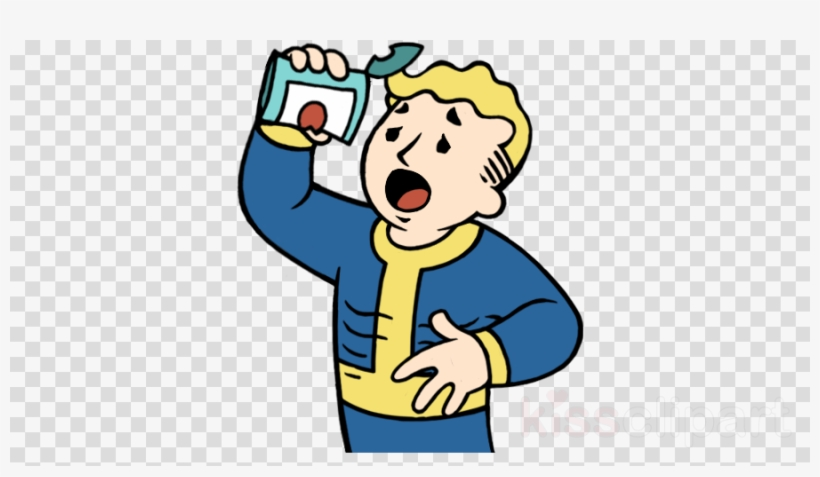 Vault Boy Hungry Clipart Fallout PNG Image.