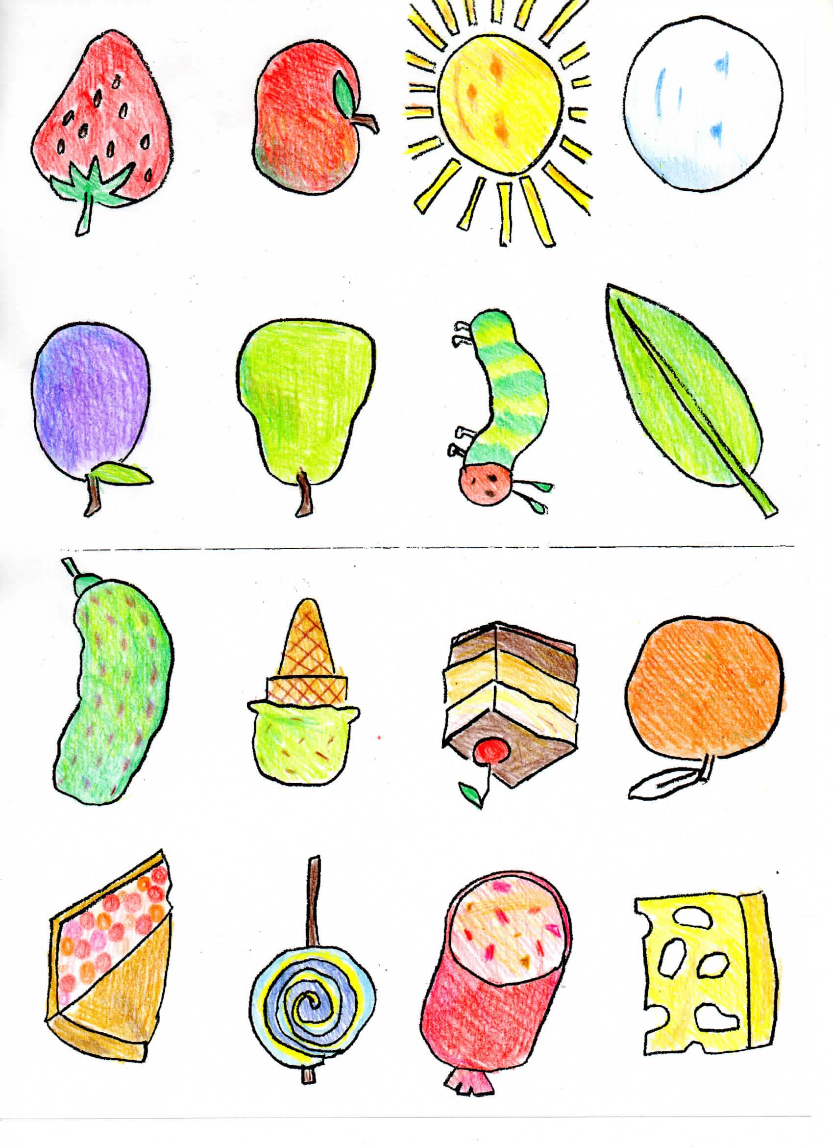Hungry Caterpillar Food Clipart Clipground